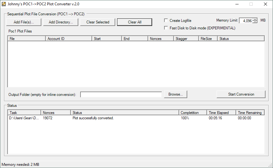 Johnny FFM's PoC1 to PoC2 Converter Results