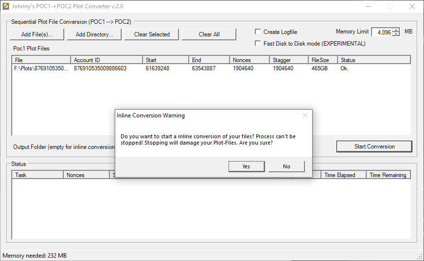 Johnny's PoC1 to PoC2 Converter Confirmation