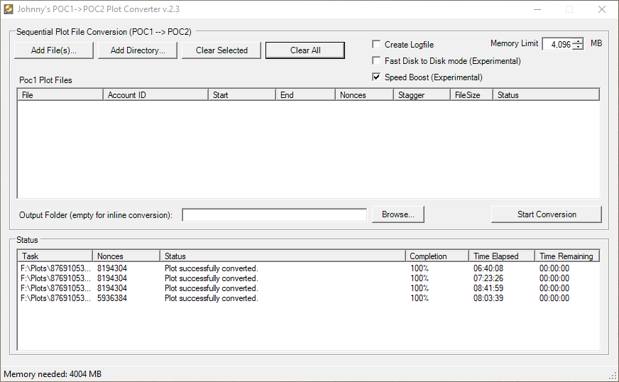 Western Digital Finished Conversion with Boost