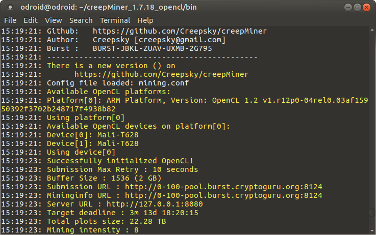 Miner With OpenCL